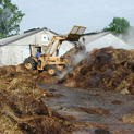 Turning Straw Compost