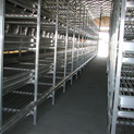 New mushroom growing shelves for a bed farm